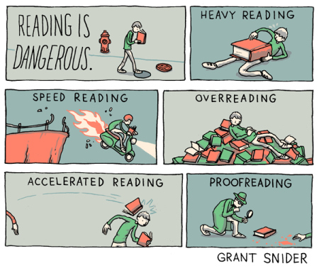 Reading is DANGEROUS--Great Infographic on Reading